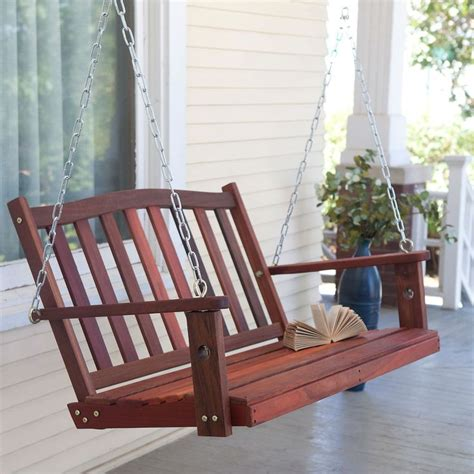 4 Ft Curved Back Porch Swing Bench Chair With Comfort