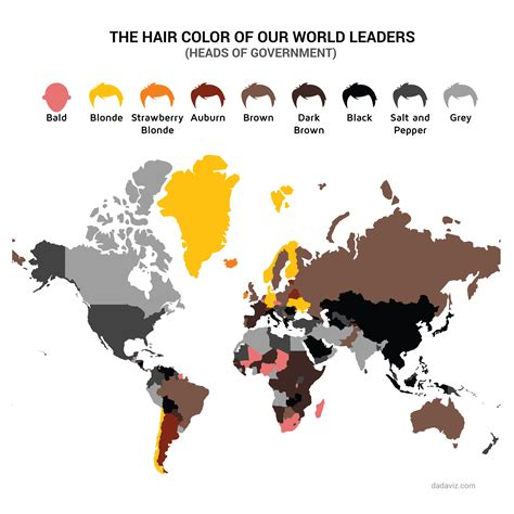 hair color by population cheveux une carte du monde