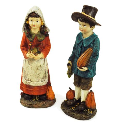 thanksgiving pilgrim indian children figurines thanksgiving wikii