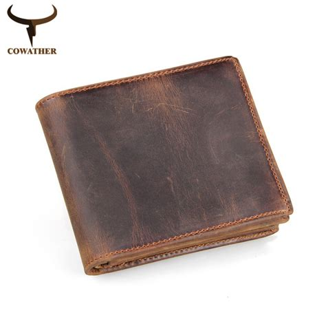 Cowather Brand Vintage Design 100 Genuine Leather Dompet Pria Impor buy wholesale wallet from china wallet wholesalers