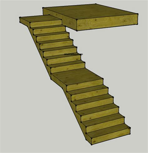 Home Floor Plans With Cost To Build Middle And Top Landing Stairs Design