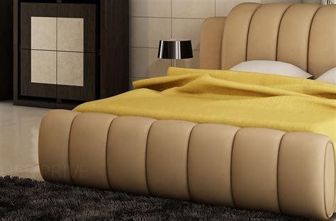 bureau avec rangement 1083 lit design en cuir italien de luxe splendide beige