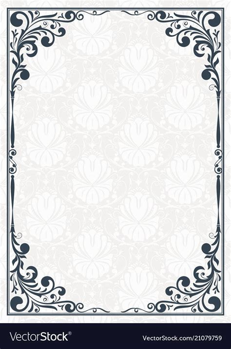 pin  rasheedanay  vintage style borders frame