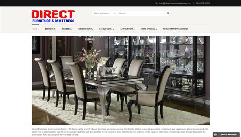 direct furniture surrey bc our showroom valley direct
