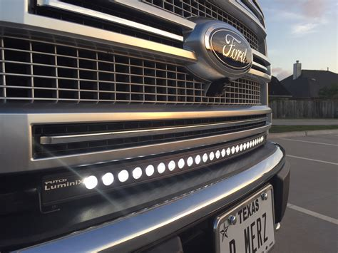 30 quot curved led light bar installed ford f150 forum