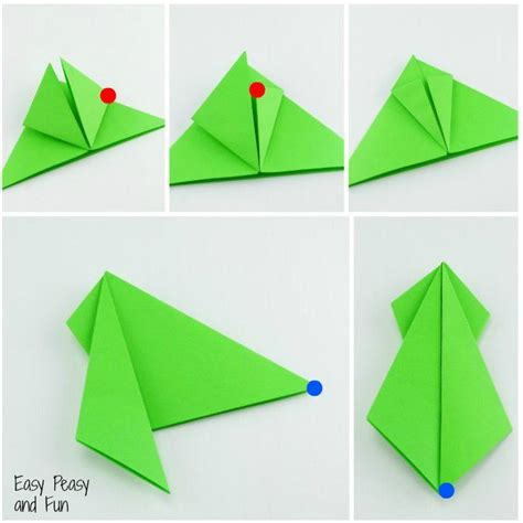 how to make an easy origami frog 25 unique origami frog ideas on jumping frog