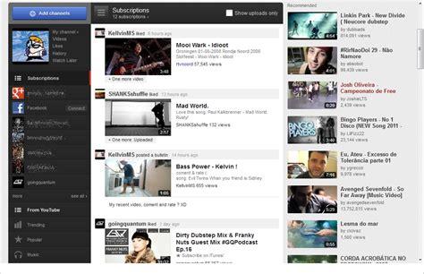 novo layout do youtube redes sociais novo layout do youtube