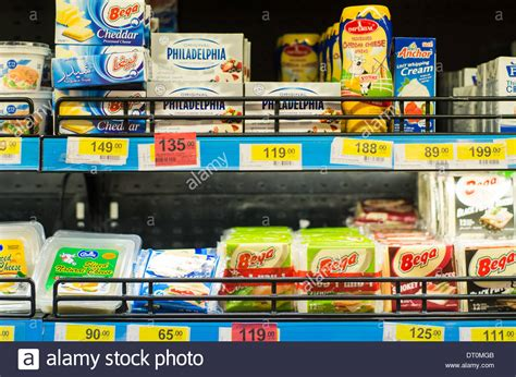 Shelf Cheese by Variety Of Cheese Products Available On Shelf Of Supermarket In Stock Photo Royalty Free Image