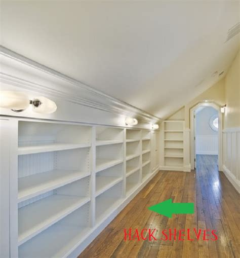 Slanted Ceiling Closet Design by High Cotton Style Crafty Home A Cave Design