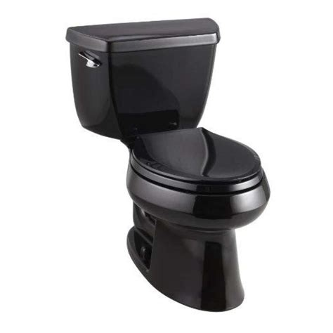 kohler wellworth toilet comfort height shop kohler wellworth black black 1 28 gpf 4 85 lpf 12