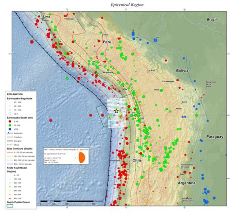 earthquake depth magnitude 8 2 earthquake off chile thrust faulting at