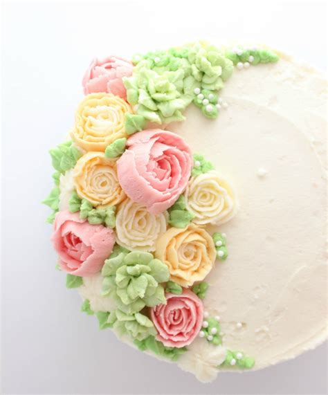 Cake Decorating Flowers Buttercream by Buttercream Flower Cake Buttercream Flowers Decorating