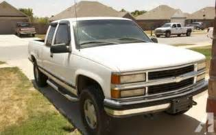 white 1998 chevy chevrolet silverado extended cab k1500