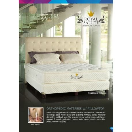 Royal Salute Orthopedic Kasur 160x200cm Pillowtop Quantum royal salute orthopedic single pillowtop quantum springbed