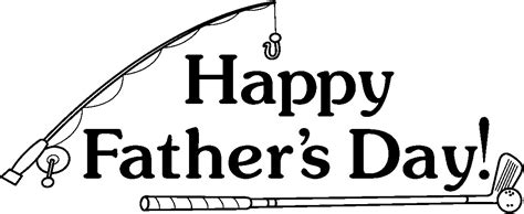 Fathers Day Clipart Black And White early play templates s day clip fishing