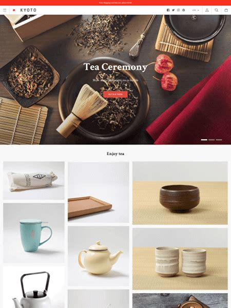 shopify themes kagami 15 top shopify themes for your online store design bombs
