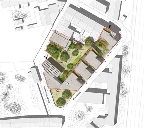 plan masse architecture pinterest atelier moss 233 gimmig 36 logements sociaux 238 lot amidonnerie