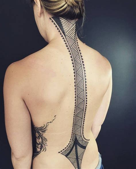 pattern spine tattoo 47 sexy and alluring spine tattoos for 2017