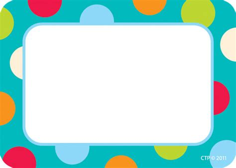 Etiketten Namen by Name Label Badges Stickers Dots On Turquoise Design
