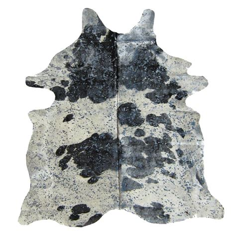 Silver Cowhide by Black And White Cowhide With Silver Thingz
