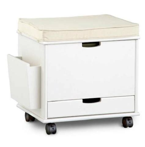 Ottoman Filing Cabinet Craft Home Office Rolling Storage Cart File Cabinet Ottoman Furniture 4 Colors