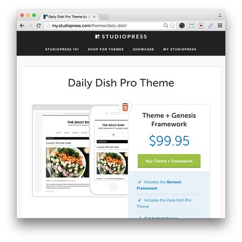 Daily Dish by Studiopress Daily Dish Pro Theme 25 Vnovember