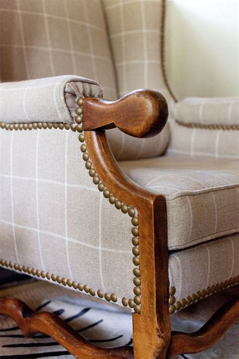 plaid wingback armchair ashley gilbreath interiors