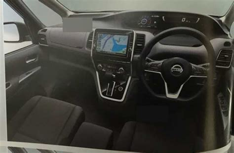 Nissan Serena Interior Pictures by 2017 Nissan Serena Interior Dashboard Leaked Image