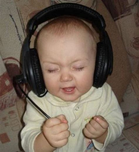 Headset Lucu Baby Pictures Soulful Tot The Laughing Stork