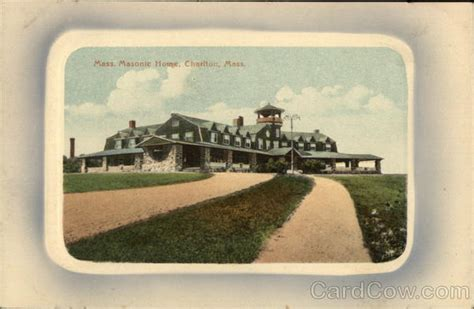 massachusetts masonic home charlton ma postcard