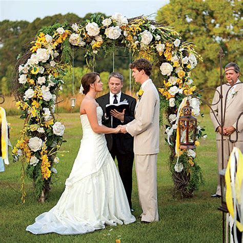 Yellow Wedding Arch by Beautiful Wedding Arches Southern Living