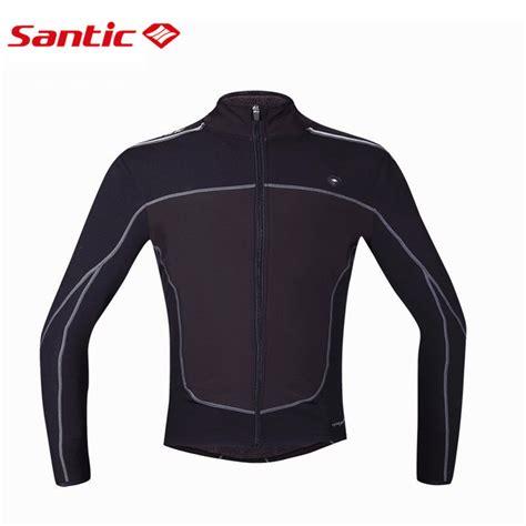 best windproof cycling jacket santic men cycling jacket bike racing spring fleece