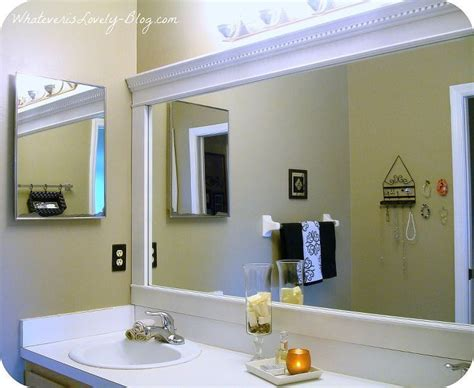framing a large bathroom mirror bathroom mirror framed with crown molding