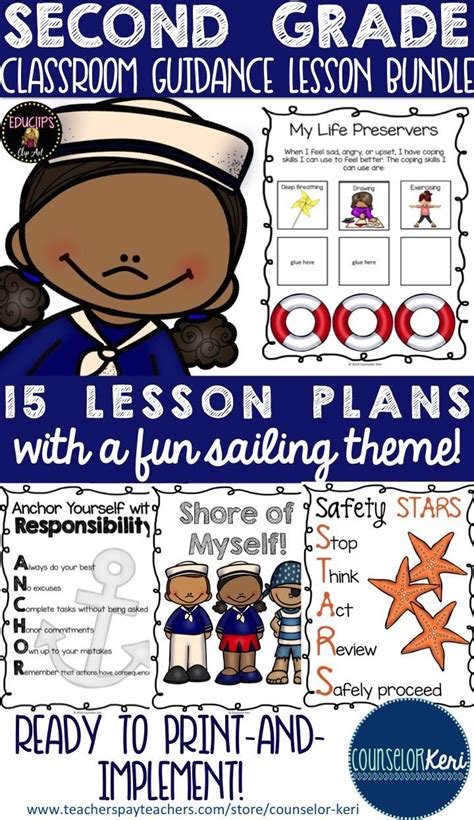 School Counseling Classroom Guidance Lessons Bundle