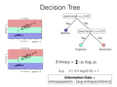 pattern classification in python decision tree entropy depth