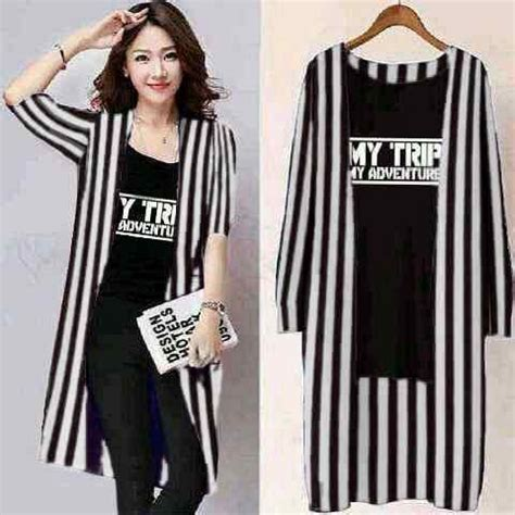 Kaos Belang Fashion set cardi belang kaos my trip my adventure mtma