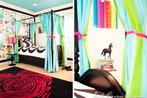 neon bedroom ideas colorful girl s bedroom design by little crown interiors