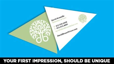 triangle shaped business card template traingle shaped business card printed color printpapa