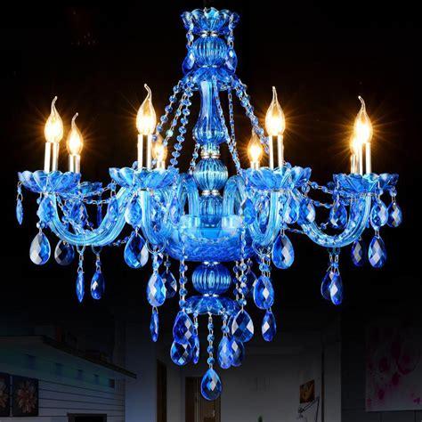 Aliexpress Com Buy Luxury Blue Chandelier Crystal Blue Chandelier Light