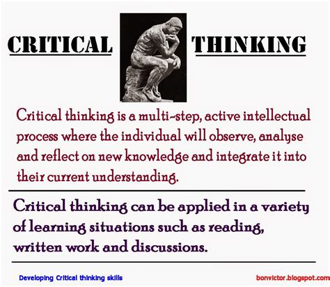 critical thinking skills and strategies for success and smarter decisions books definition of critical thinking skills