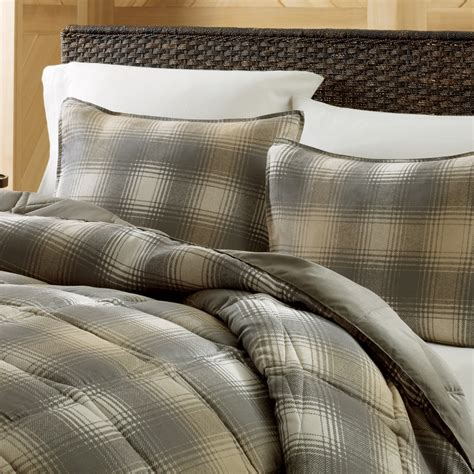 eddie bauer nordic plaid down alternative comforter set