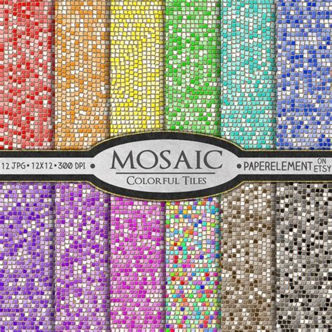 Mosaik Fliesen Muster by Mosaik Digitalem Papier Glas Fliesen Mosaik Muster Mosaik