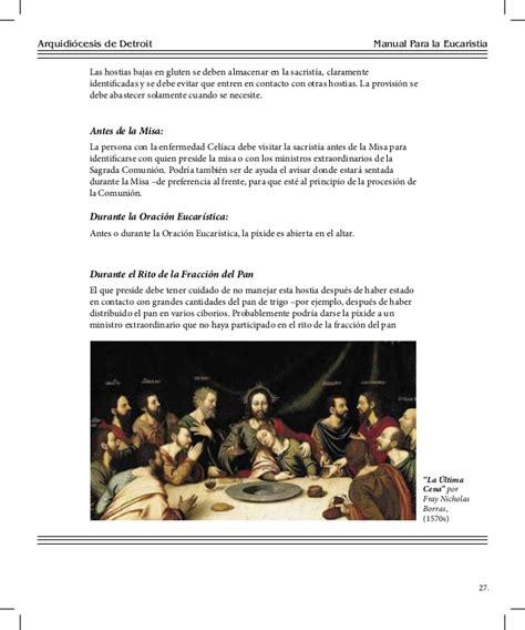 oracion para ministros de eucaristia manual para la eucaristia de detroit
