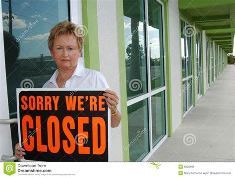 small business closing stock image image