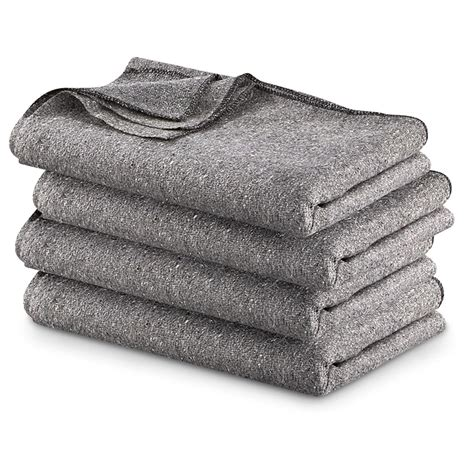 Wool Blankets And Throws by Style Wool Blend Blankets 4 Pack 60 Quot X 80