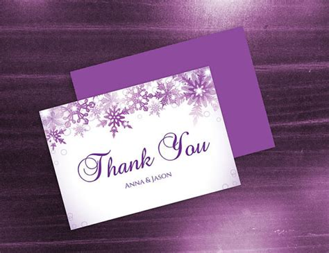 purple thank you card templates diy printable wedding thank you card template 2480709