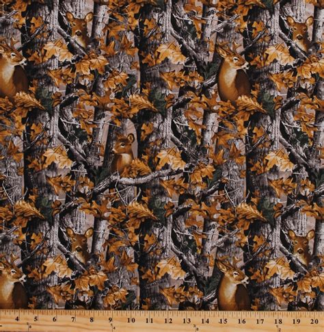 nature camo pattern cotton realtree woods deer in camo camouflage trees leaves