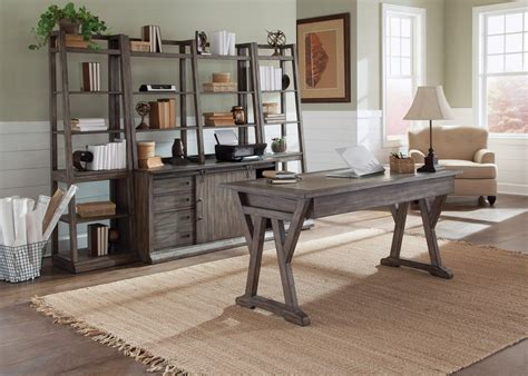 office desk with credenza stonebrook complete home office desk credenza with hutch