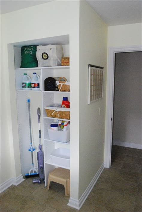 Utility Closet Storage by Clean Laundry Room