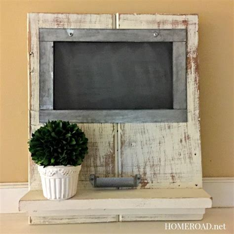 diy chalkboard shelf homeroad distressed chalkboard shelf